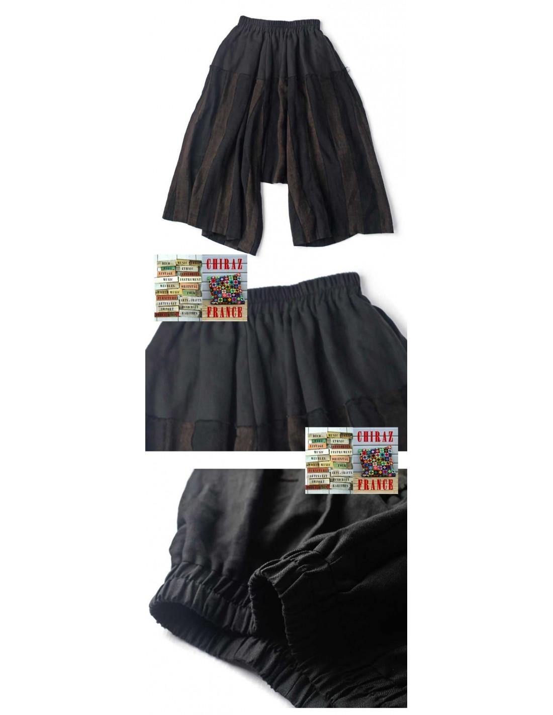 pantalon bloomer baggy sarouel noir marron oversize extralarge boho ethnique cr ateur d structur. Black Bedroom Furniture Sets. Home Design Ideas