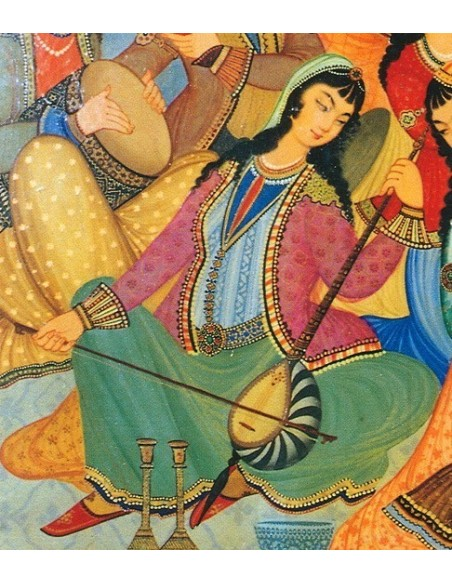 KAMANCHE persan, IRAN, luth oriental housse NEUF