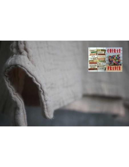 Tunique top coton double épaisseur gaufré oversize manches longues 38 - 46 boho