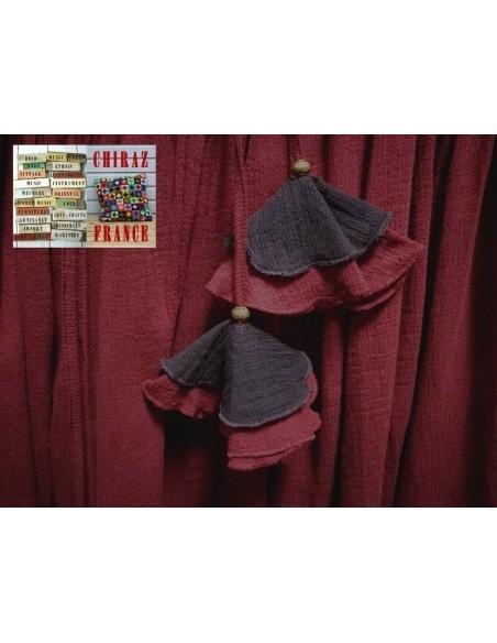 Jupe à volants déstructurée longue et large crépon coton ample boho gipsy ethnique folk