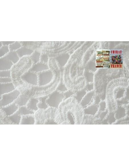 Cardigan coton léger destructuré pans tombants col crochet dentelle col V coupe trapèze bourgeon ethnique boho XL BLANC ou NOIR